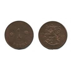 1 пенни 1922 года (Регулярный выпуск) — Финляндия