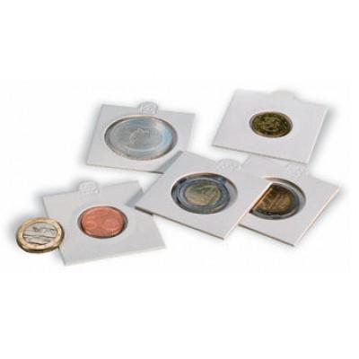 """Холдеры для монет, под скрепку - 37,5 мм.  Производство """"Leuchtturm"""""""