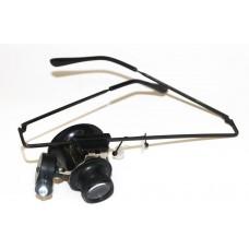 Лупа-очки ювелирная с подсветкой № 9892А