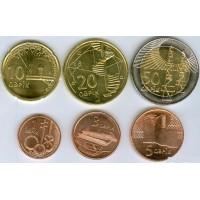 Набор монет Азербайджан (6 монет) UNC