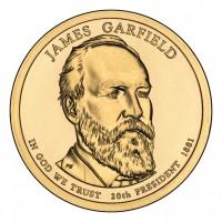 1 доллар 2011 год. США. Джеймс Гарфилд 20-й президент (Р)