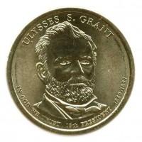1 доллар 2011 год. США. Улисс Грант. 18-й президент (P)