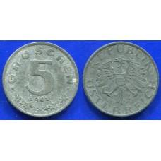 5 грошей 1961 год. Австрия.