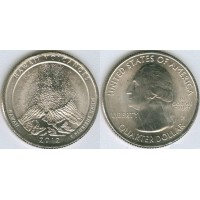 25 центов 2012 год. США. Гавайские Вулканы (P)