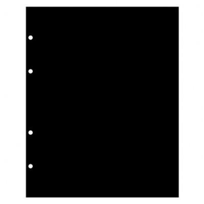 Лист разделительный черный, пластик, 192х220 мм, Формат НУМИС