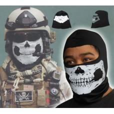 Балаклава тактическая с черепом, черная, новая