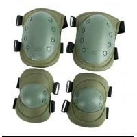 Комплект защиты наколенники+налокотники, Olive green