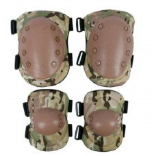 Комплект защиты наколенники+налокотники, Camo