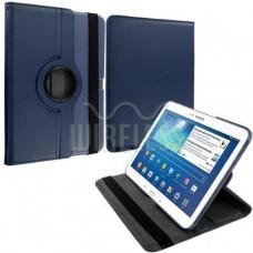 Кожанный чехол Для Samsung Galaxy Tab 3 10.1 планшетов 360 , темно-синий