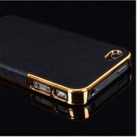 Чехол на телефон APPLE Iphone 5 / 5 s черный в золотом обрамлении