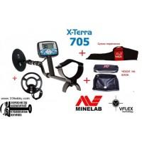 Металлоискатель Minelab X-TERRA 705 dual Pack (Две катушки и бонусы)