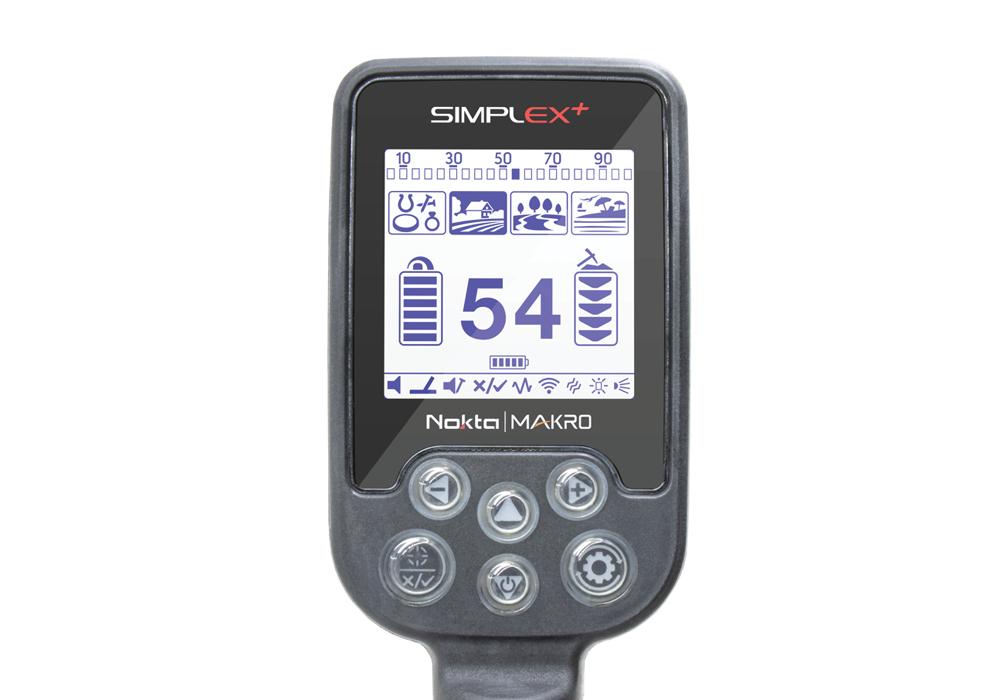 Металлоискатель Nokta Makro Simplex Plus с беспроводными наушниками и пинпоинтером PulseDive Pointer