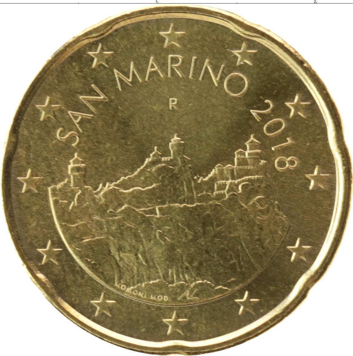 20 евроцентов 2018 год. Сан-Марино