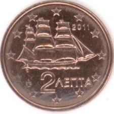 2 евроцента 2011 год. Греция