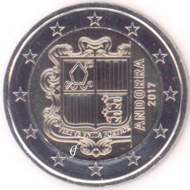 2 Евро 2017 год. Андорра